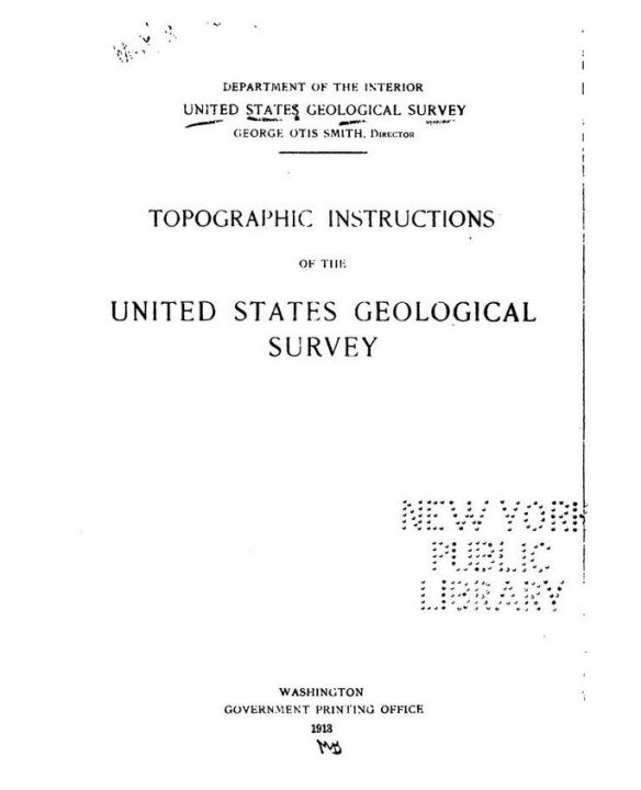 Topographic Instructions of the USGS