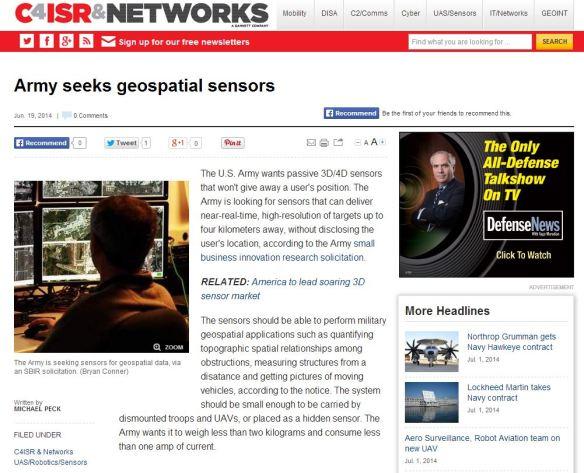 Geospatial Sensors