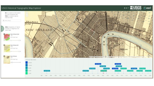 USGS Historical Map Viewer