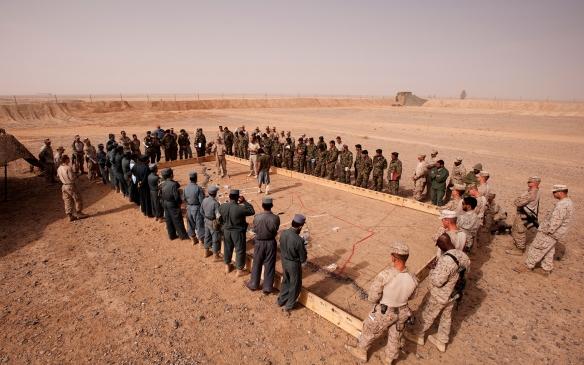 3rd Battalion, 3rd Marines terrain model in Afghanistan