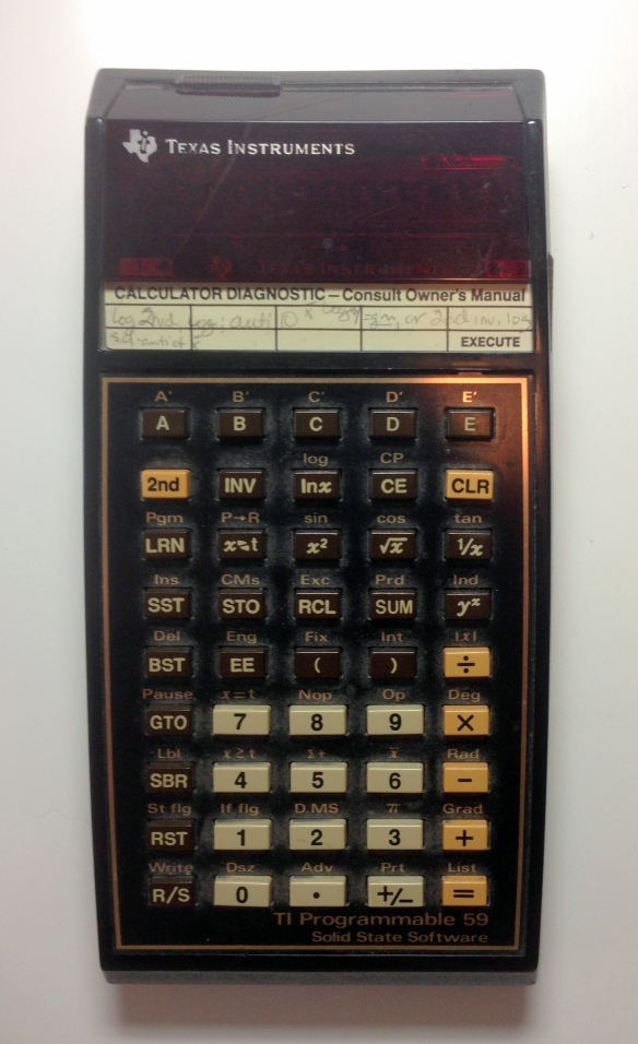 TI 59 Calculator