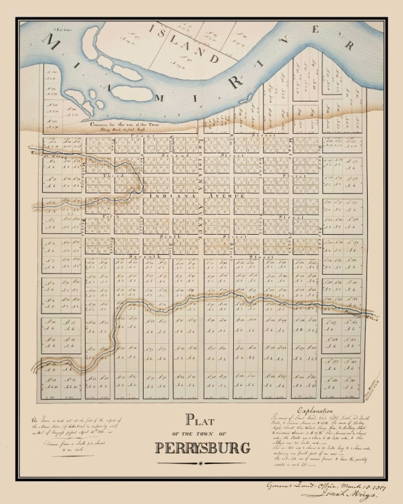 1816 Perrysburg Ohio Plat Map