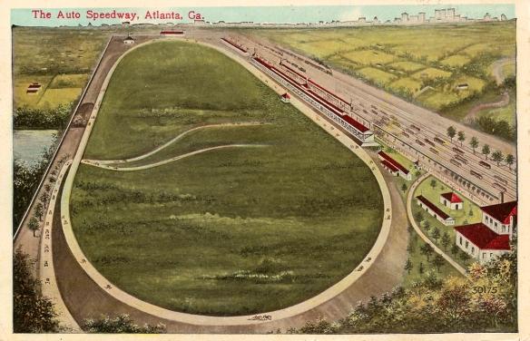 Atlanta Speedway postcard