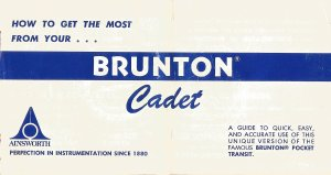 Brunton Cadet Manual Front